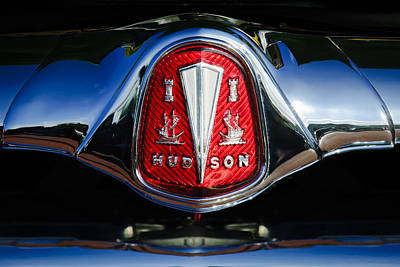 Car Photograph - 1953 Hudson Hornet Sedan Emblem by Jill Reger