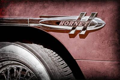 Photograph - 1953 Hudson Hornet Side Emblem by Jill Reger
