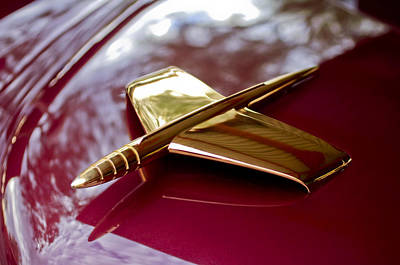 Photograph - 1953 Kaiser Golden Dragon Hood Ornament 3 by Jill Reger