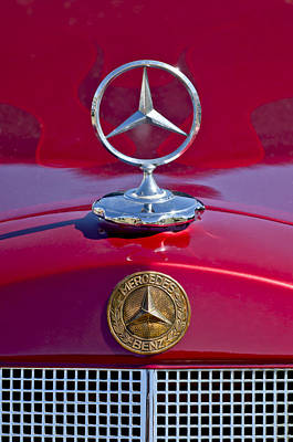 Automobile Hood Photograph - 1953 Mercedes Benz Hood Ornament by Jill Reger