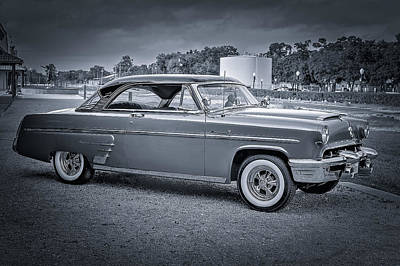 Photograph - 1953 Mercury Monterey Bw 2 by David Morefield