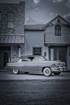 Photograph - 1953 Mercury Monterey Bw 5 by David Morefield