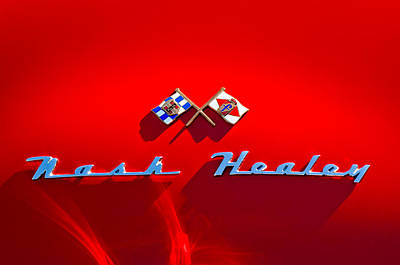 1953 Nash-healey Roadster Emblem Art Print by Jill Reger