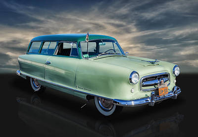 Photograph - 1953 Nash Rambler Greenbriar Station Wagon by Frank J Benz
