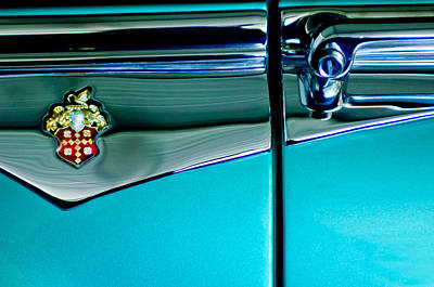 Photograph - 1953 Packard Caribbean Convertible Emblem 4 by Jill Reger