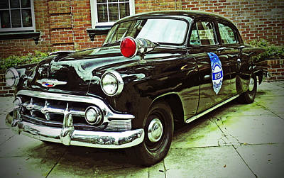 Photograph - 1953 Police Car by Patricia Greer