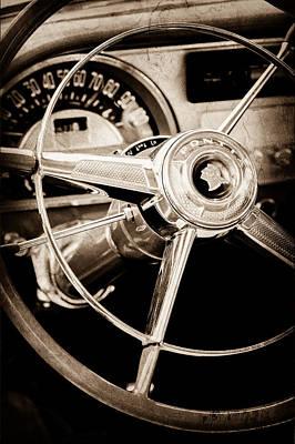 1953 Pontiac Photograph - 1953 Pontiac Steering Wheel Emblem by Jill Reger