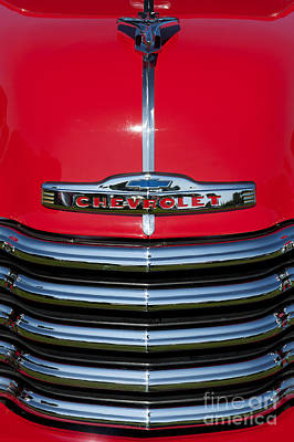 1953 Red Chevrolet 3100 Pickup Art Print by Tim Gainey