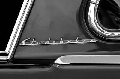 Photograph - 1953 Studebaker Champion Starliner Side Emblem by Jill Reger