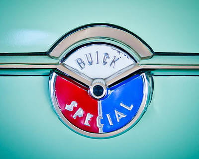 Wagon Photograph - 1954 Buick Special Wagon Emblem -1321c by Jill Reger