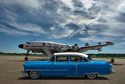Photograph - 1954 Cadillac At The Airport by Tim McCullough