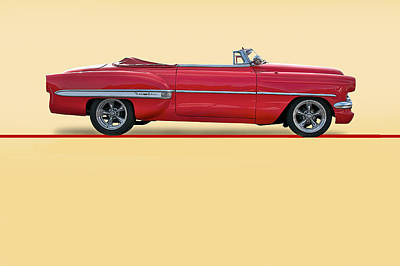 Abstract Male Faces - 1954 Chevrolet Bel Air Convertible by Dave Koontz