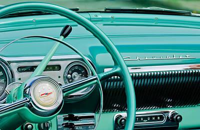 1954 Chevrolet Belair Steering Wheel 3 Art Print