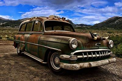 Photograph - 1954 Chevrolet Station Wagon Taxi by Tim McCullough