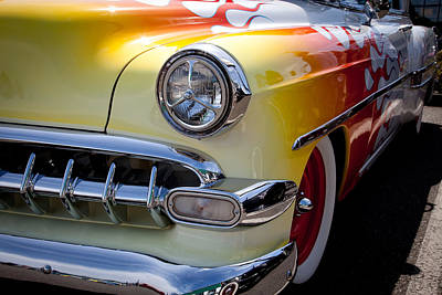 Red Street Rod Photograph - 1954 Chevy Bel Air by David Patterson