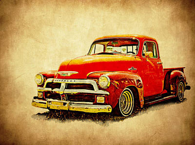 Photograph - 1954 Chevy Pickup by Athena Mckinzie
