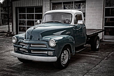 Shiney Photograph - 1954 Chevy Truck by Debra and Dave Vanderlaan