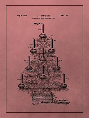 Mixed Media - 1954 Christmas Tree Patent by Dan Sproul