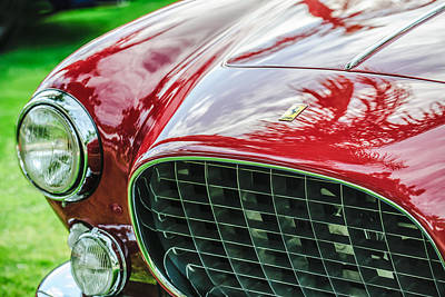 Photograph - 1954 Ferrari Europa 250 Gt Grille -1336c by Jill Reger