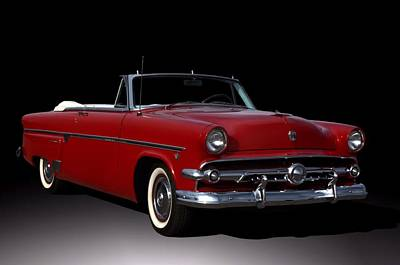 Photograph - 1954 Ford Crestline Convertible by Tim McCullough