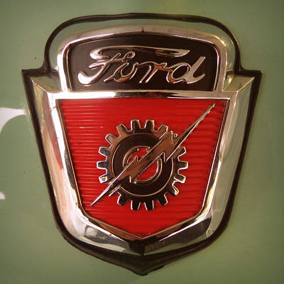 Photograph - 1954 Ford F100 Emblem by Joseph Skompski