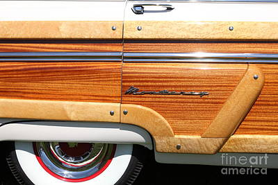 Old Woody Station Wagon Wall Art - Photograph - 1954 Ford Mercury Monterey Woody Stationwagon 5d22766 by Wingsdomain Art and Photography