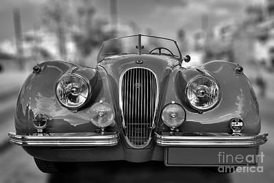 Car Photograph - 1954 Jaguar Xk120 by George Atsametakis