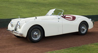 1954 Photograph - 1954 Jaguar Xk120 Roadster  by Jill Reger