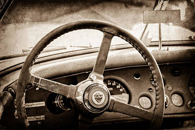 1954 Jaguar Xk120 Roadster Steering Wheel Emblem Art Print by Jill Reger