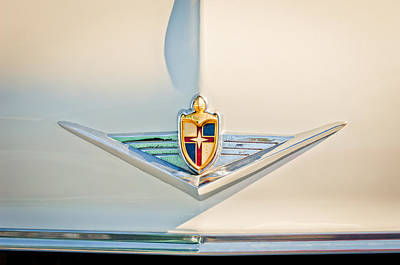 Lincoln Photograph - 1954 Lincoln Capri Convertible Emblem 3 by Jill Reger