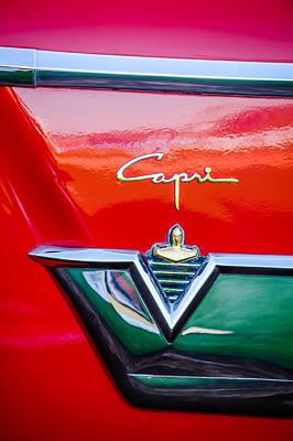 Photograph - 1954 Lincoln Capri Emblem -1177c by Jill Reger
