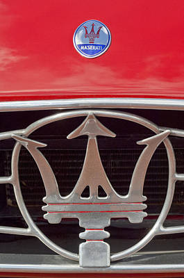 Photograph - 1954 Maserati A6 Gcs Emblem by Jill Reger