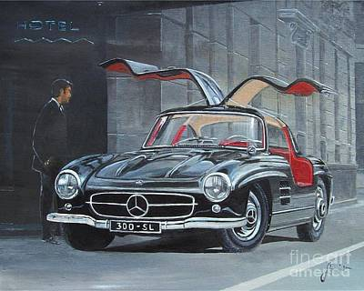 Painting - 1954 Mercedes Benz 300 Sl Gullwing by Sinisa Saratlic