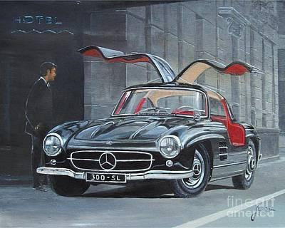 1954 Mercedes Benz 300 Sl Gullwing Art Print