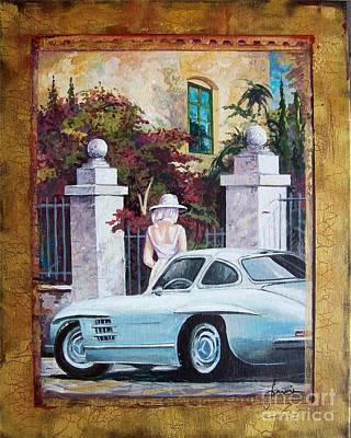 Painting - 1954 Mercedes Benz Sl 300 Gullwing by Sinisa Saratlic
