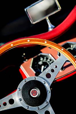 Photograph - 1954 Mg Tf Steering Wheel Emblem by Jill Reger