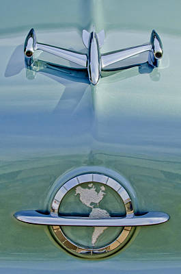 1954 Photograph - 1954 Oldsmobile Super 88 Hood Ornament by Jill Reger