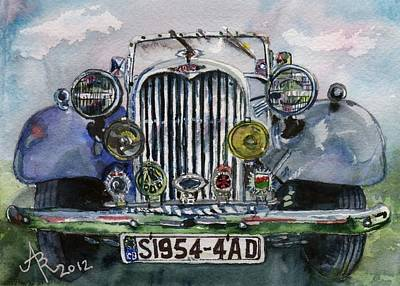 1954 Singer Car 4 Adt Roadster Art Print