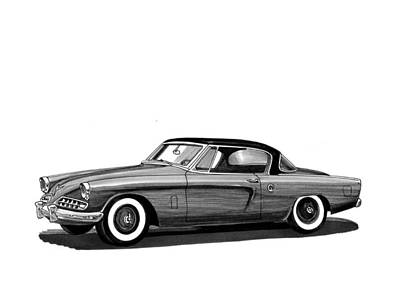 1954 Studebaker Skyliner Art Print by Jack Pumphrey