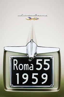 Photograph - 1955 Alfa Romeo 1900 Css Ghia Aigle Cabriolet Grille Emblem - Super Sprint Emblem -0601c by Jill Reger