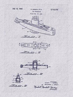 Photograph - 1955 Baking Soda Submarine Patent Art by Barry Jones