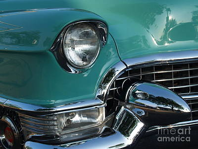 1955 Cadillac Coupe De Ville Closeup Art Print