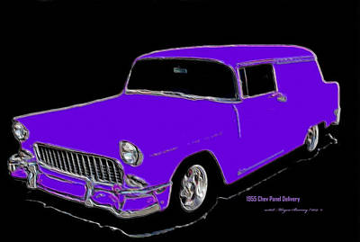 Chev Painting - 1955 Chev Panel Delivery P by Wayne Bonney