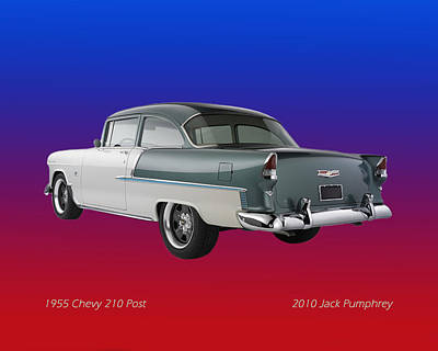 White Chevy Photograph - 1955 Chevrolet 210 by Jack Pumphrey