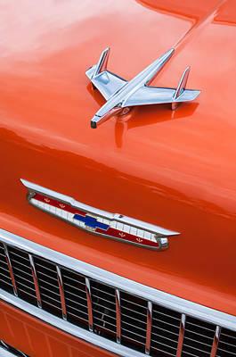 1955 Chevrolet 210 Resto Mod Hood Ornament - Emblem Art Print