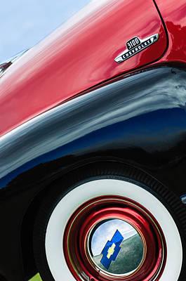 Photograph - 1955 Chevrolet 3100 Pickup Truck Emblem by Jill Reger