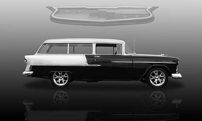 Photograph - 1955 Chevrolet Bel Air Station Wagon by Frank J Benz