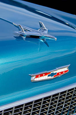 Belair Photograph - 1955 Chevrolet Belair Hood Ornament 7 by Jill Reger