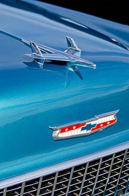 1955 Chevrolet Photograph - 1955 Chevrolet Belair Hood Ornament 7 by Jill Reger