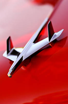 1955 Chevy Photograph - 1955 Chevrolet Belair Nomad Hood Ornament by Jill Reger